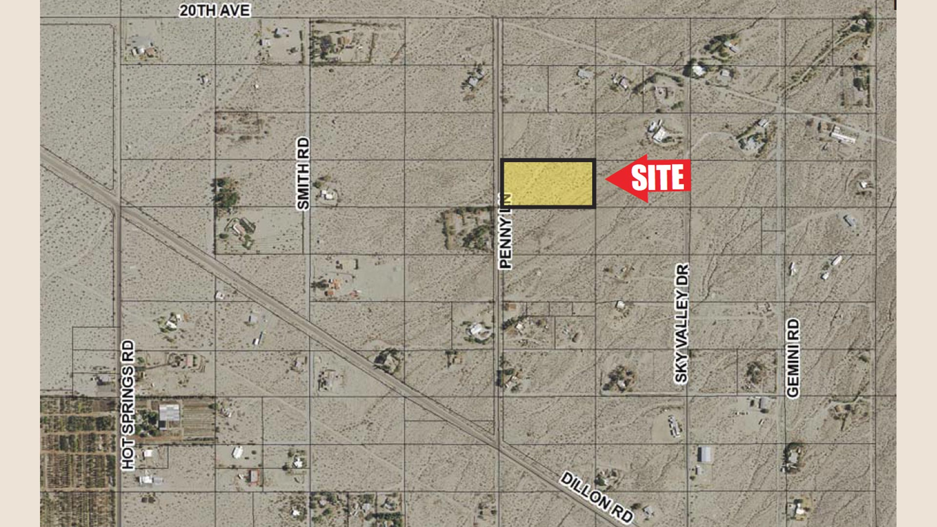 detailed property listing area map image