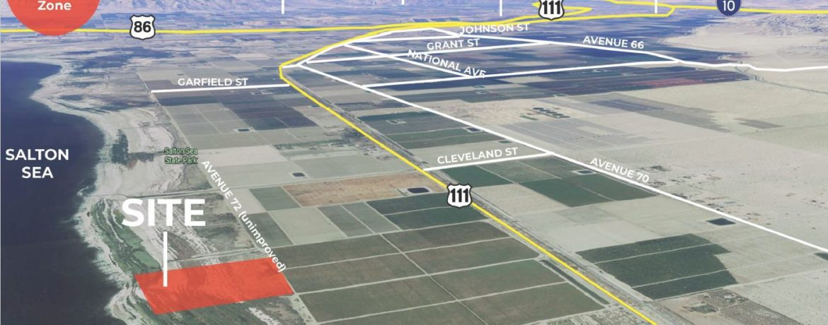 site map of 30.31 acres land for sale at 97150 avenue 72 mecca california