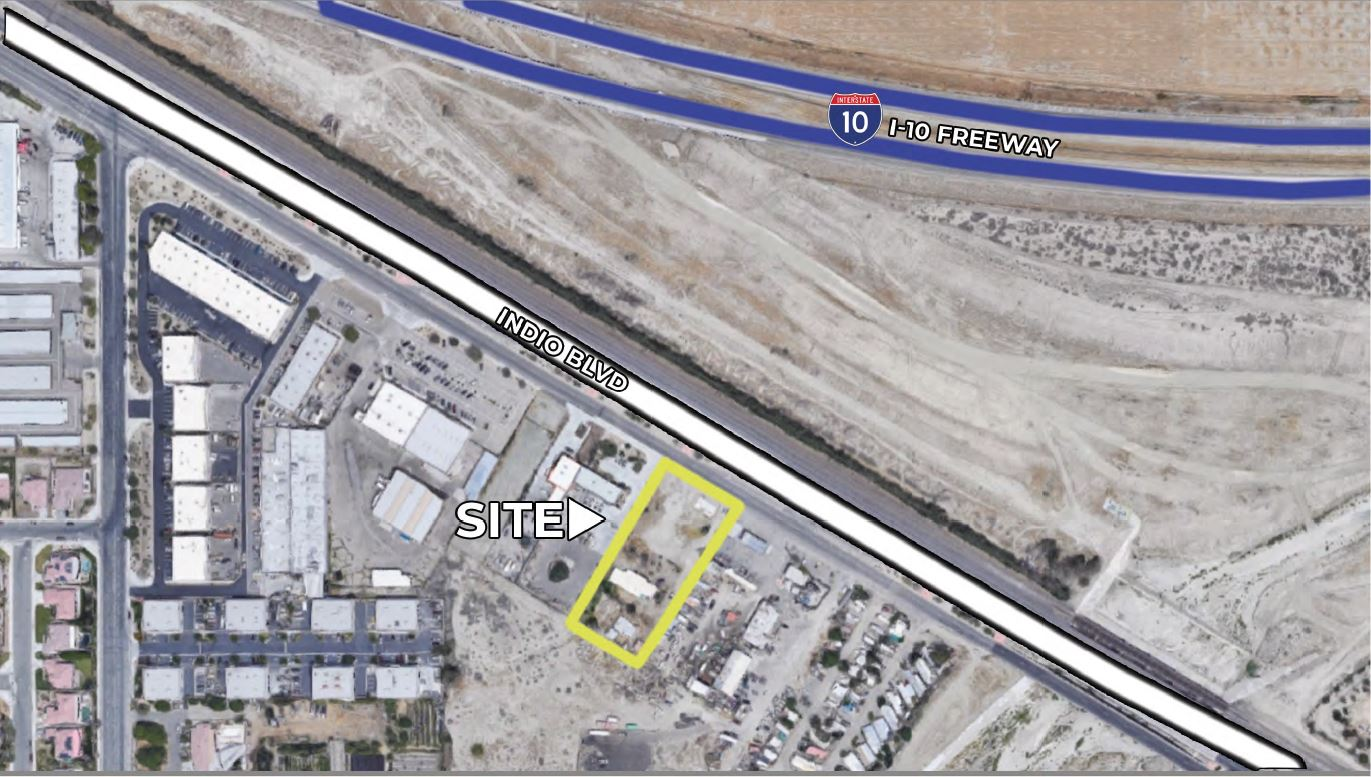 zoomed in map of land for sale at 81225 indio boulevard california