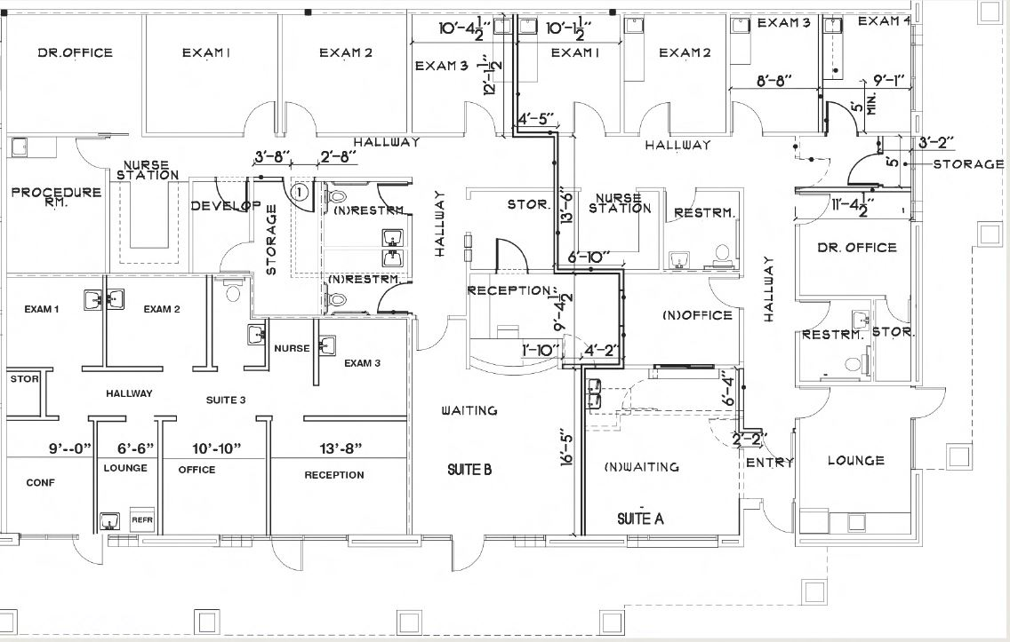 floor plan for 4437 squarefoot for lease at 81812 dr carreon boulevard indio