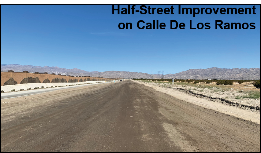 a photo of a road in little morongo desert hot springs california