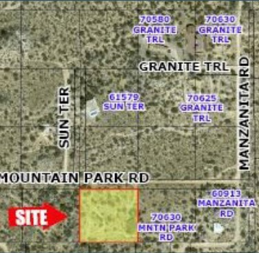 plat map for 2.27 acres ranch land for sale in coachella valley california