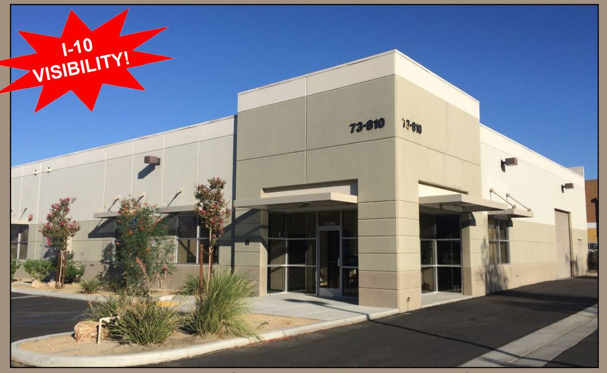 exterior photo of 5320 squarefoot industrial building for sale in 73810 dinah shore drive coachella california