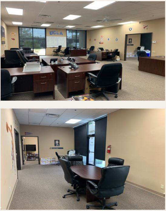 photo of the office area of 1833 squarefoot office space for lease in 41990 cook street building 802 palm desert california