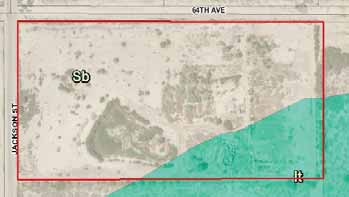soil map of 19.08 acres farmground for lease in avenue 64 vista santa rosa california
