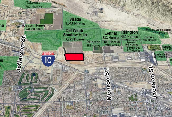 map of 61 acres in monroe street indio