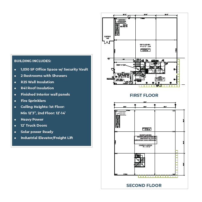 a floor plan of 11,763 square foot building for lease located in morongo industrial park