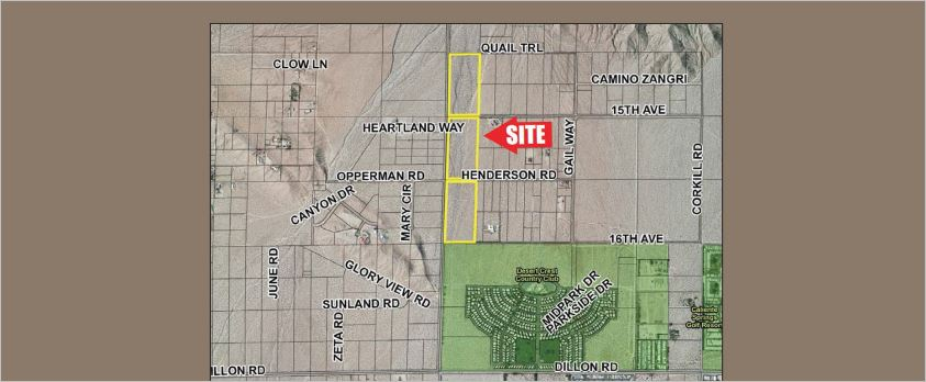 a map of 53 acres of land for sale in warm water area desert edge sky valley california