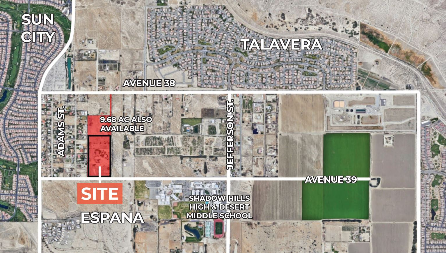 aerial map of ranch for sale at 79300 avenue 39 indio california