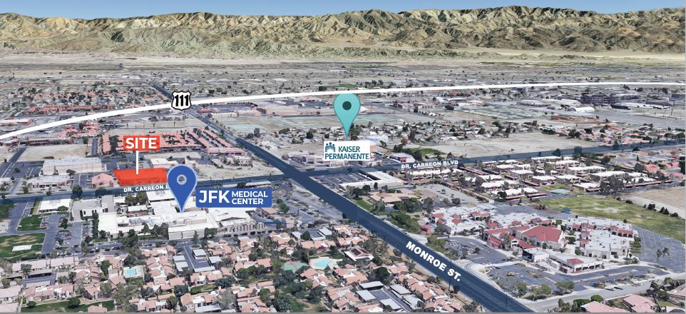 area map of 1.913 square foot medical office for lease at 81812 doctor carreon boulevard indio california
