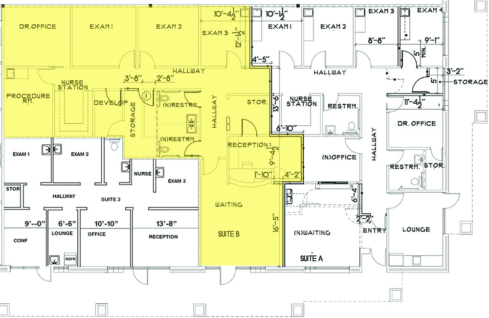 floor plan for 1.913 square foot medical office for lease at 81812 doctor carreon boulevard indio california
