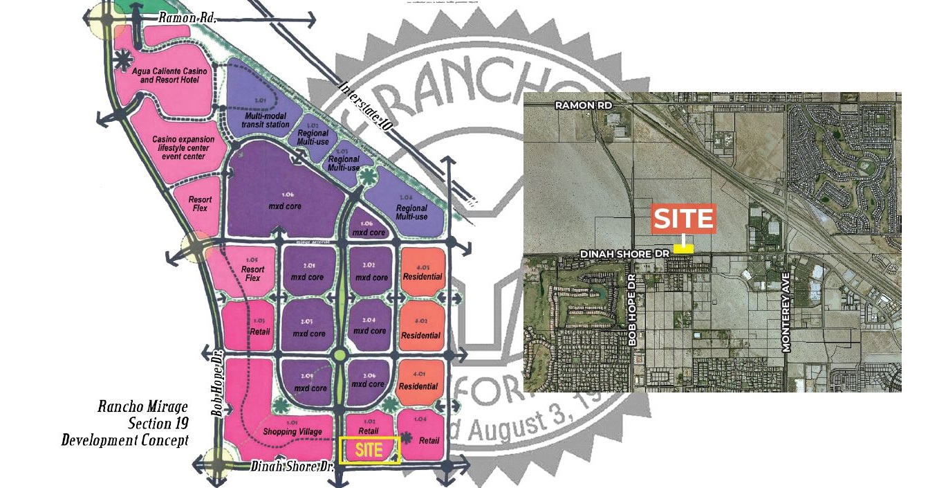 site plan of 4.10 acres land for sale at rancho mirage california
