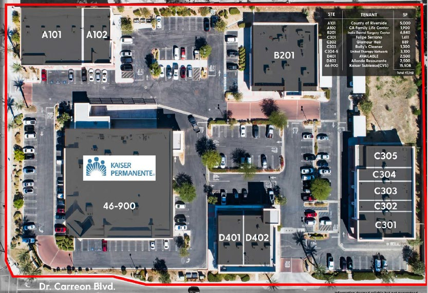 site map of the building photo of 46900 monroe street indio california