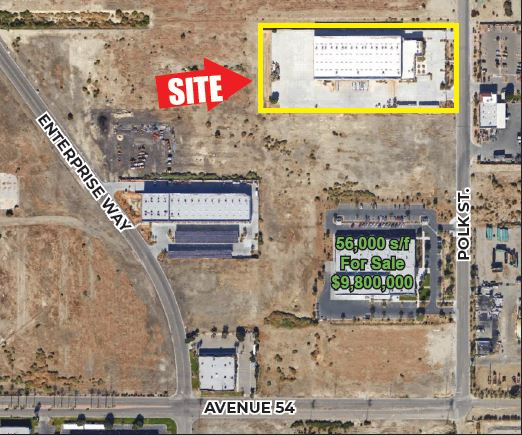 zoomed out aerial of 53603 polk street coachella california