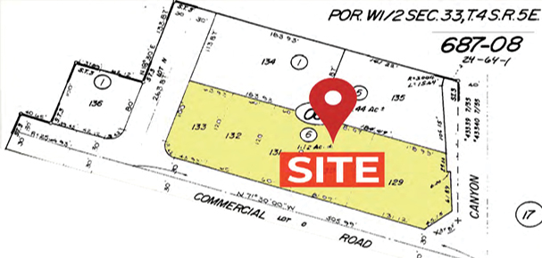 Assessor's Parcel Map of 36737 Cathedral Canyon Dr, Cathedral City, CA