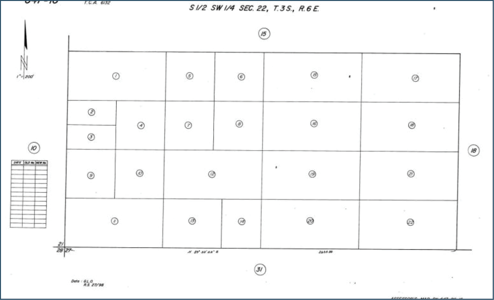 2.5 AC Smith Rd & Dillon Rd Sky Valley Assessor's Parcel Map