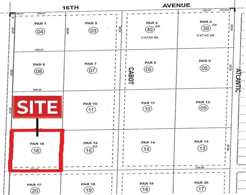 2.24 AC NEC Maple Rd & Pacific Ave, DHS Parcel Map