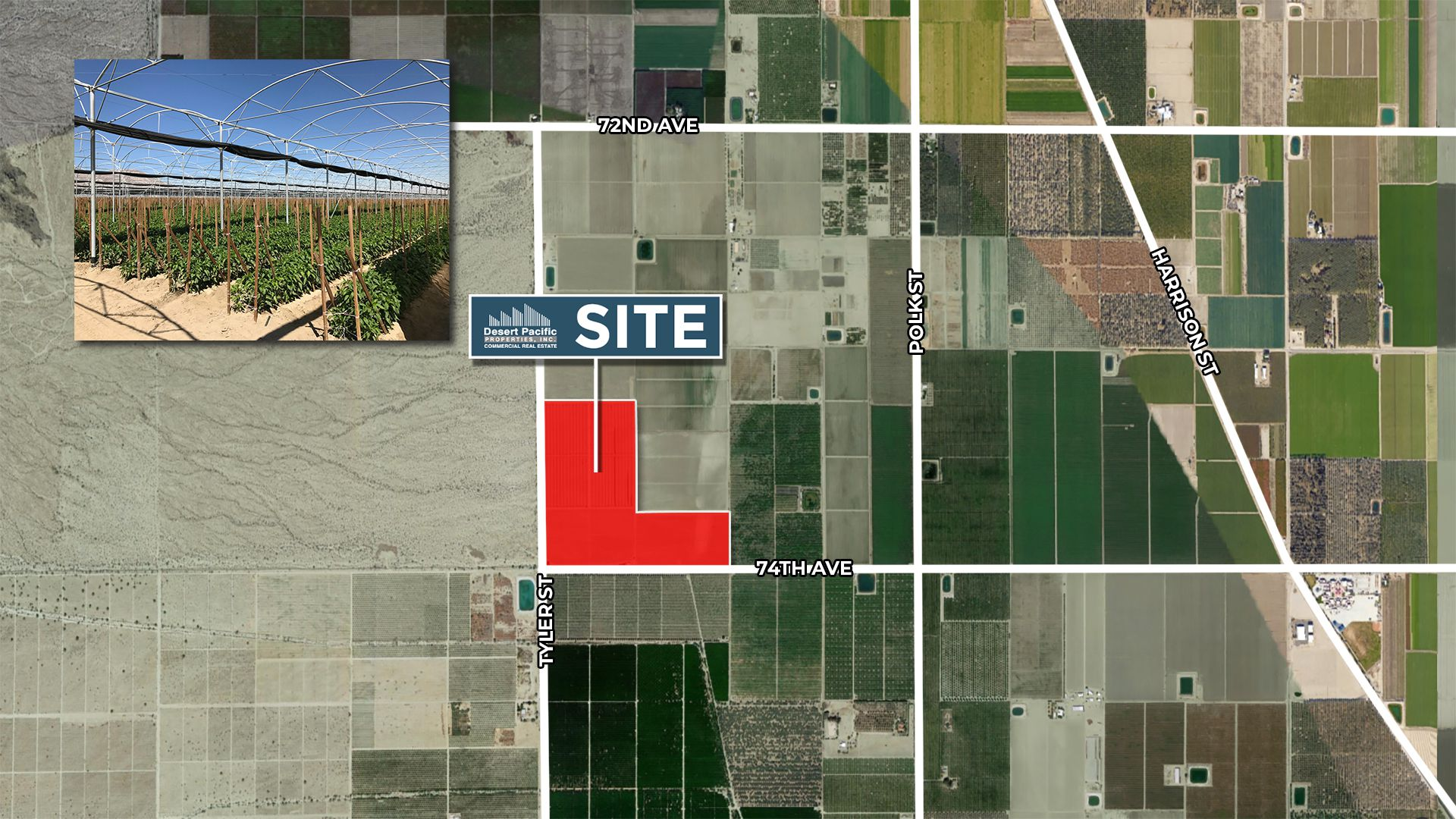 77.88 AC 74th Ave & Tyler St, Oasis Aerial