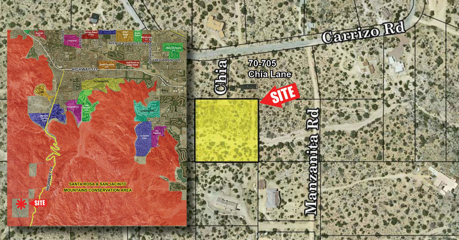2.5 AC (Lot 10 Chia Ln), Pinyon Crest PIN Zoomed Aerial