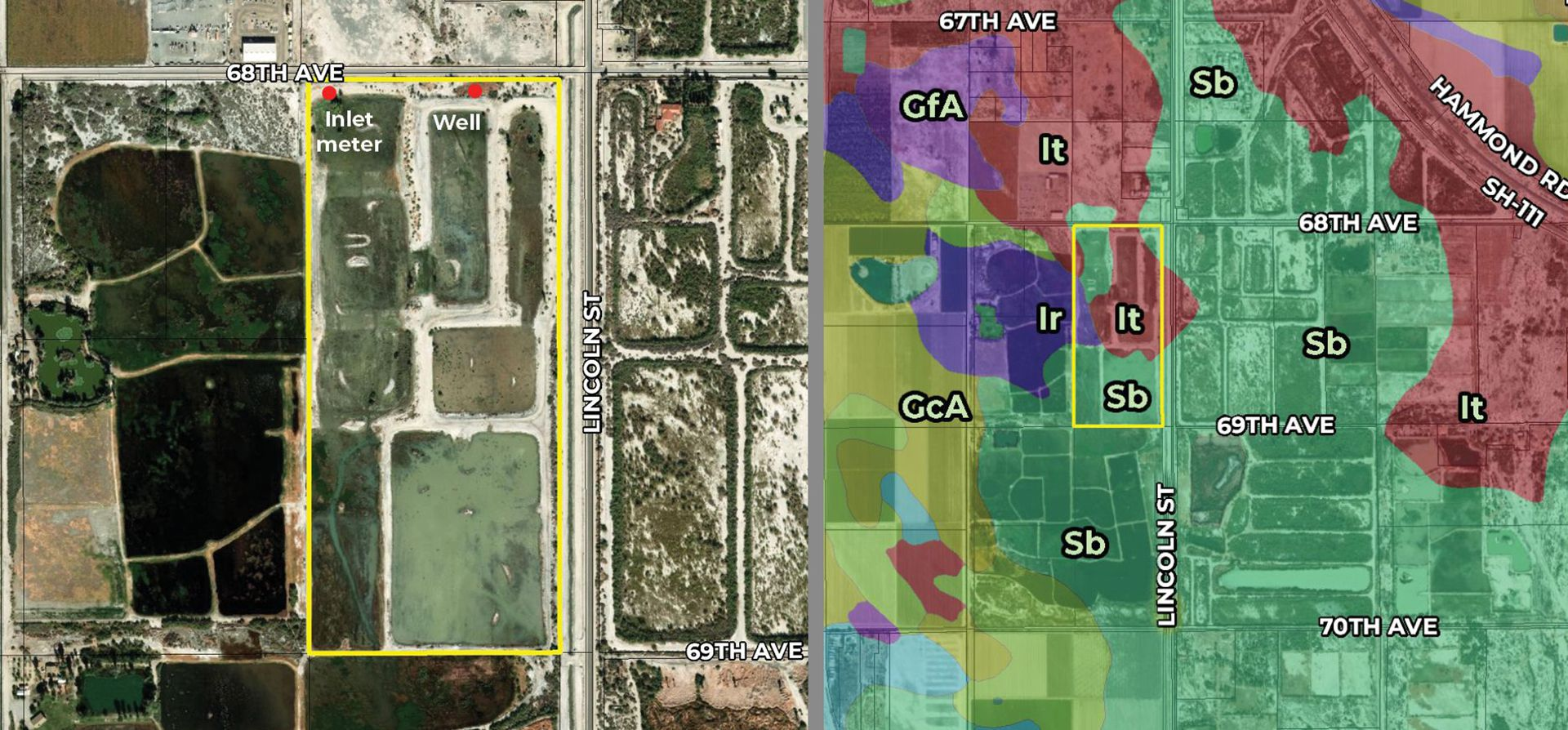 70 29 AC SWC 68th Ave Lincoln Rd Mecca Zoomed Aerial Map