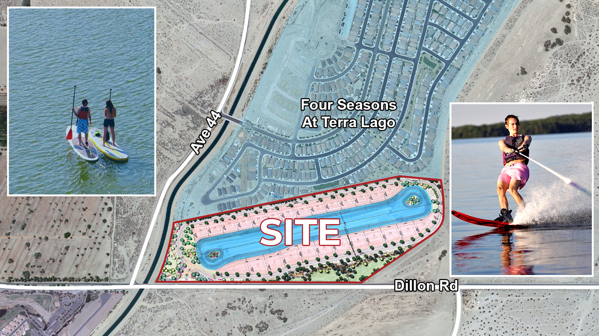 45.02 AC Dillon Lakes, Indio Zoomed Aerial Map Web