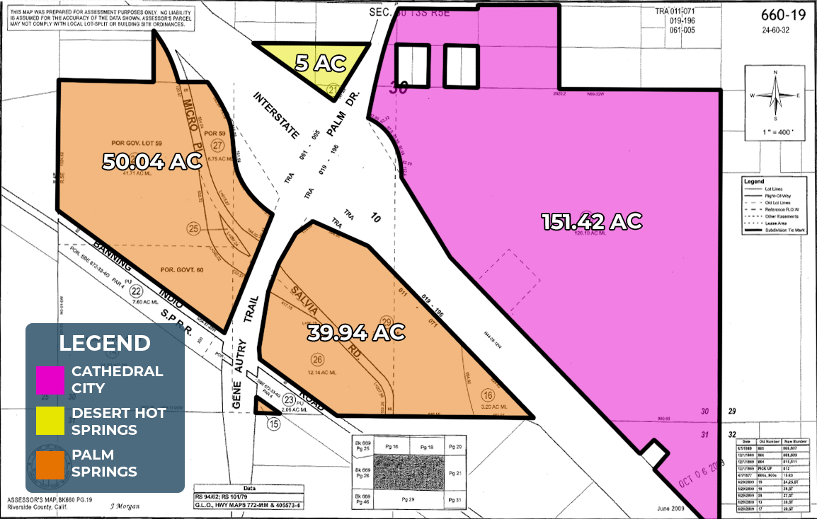 246.4 AC I-10 & Palm Dr, PS Lot Owned Map Web
